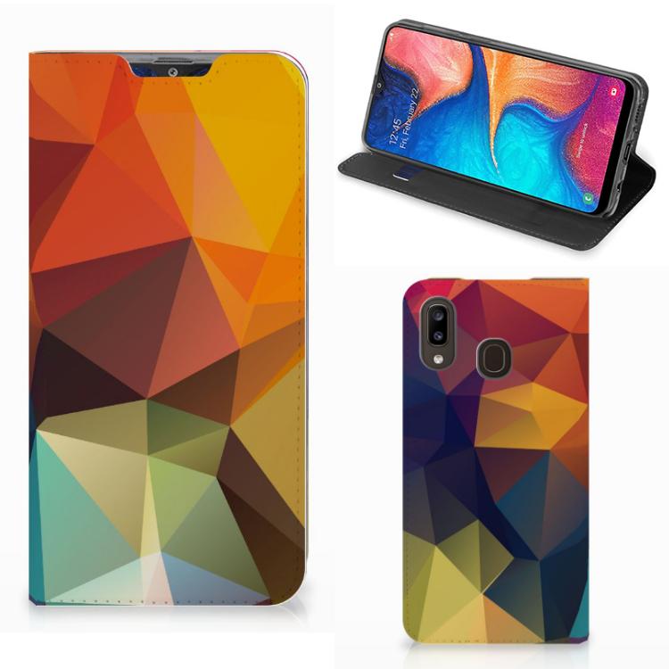 Samsung Galaxy A30 Stand Case Polygon Color