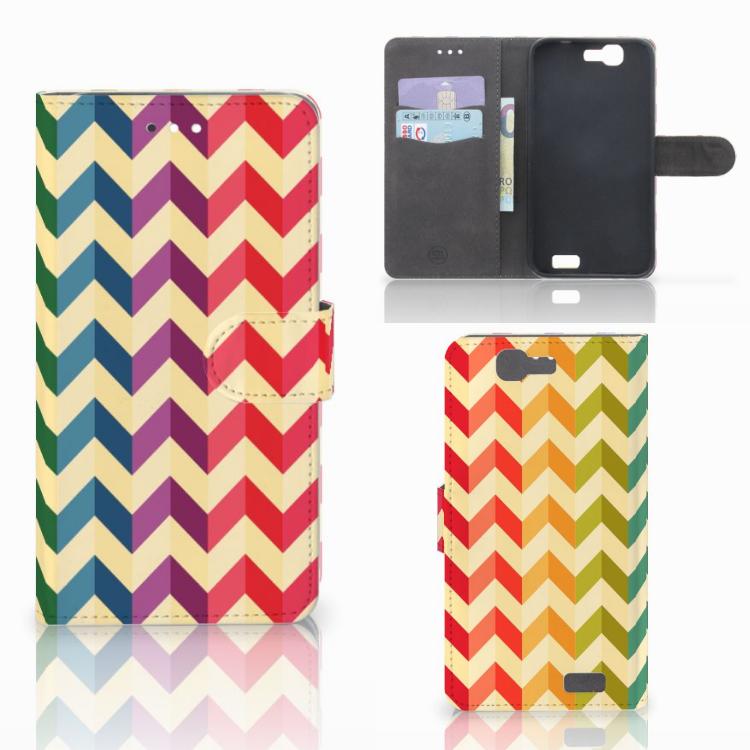 Huawei Ascend G7 Telefoon Hoesje Zigzag Multi Color