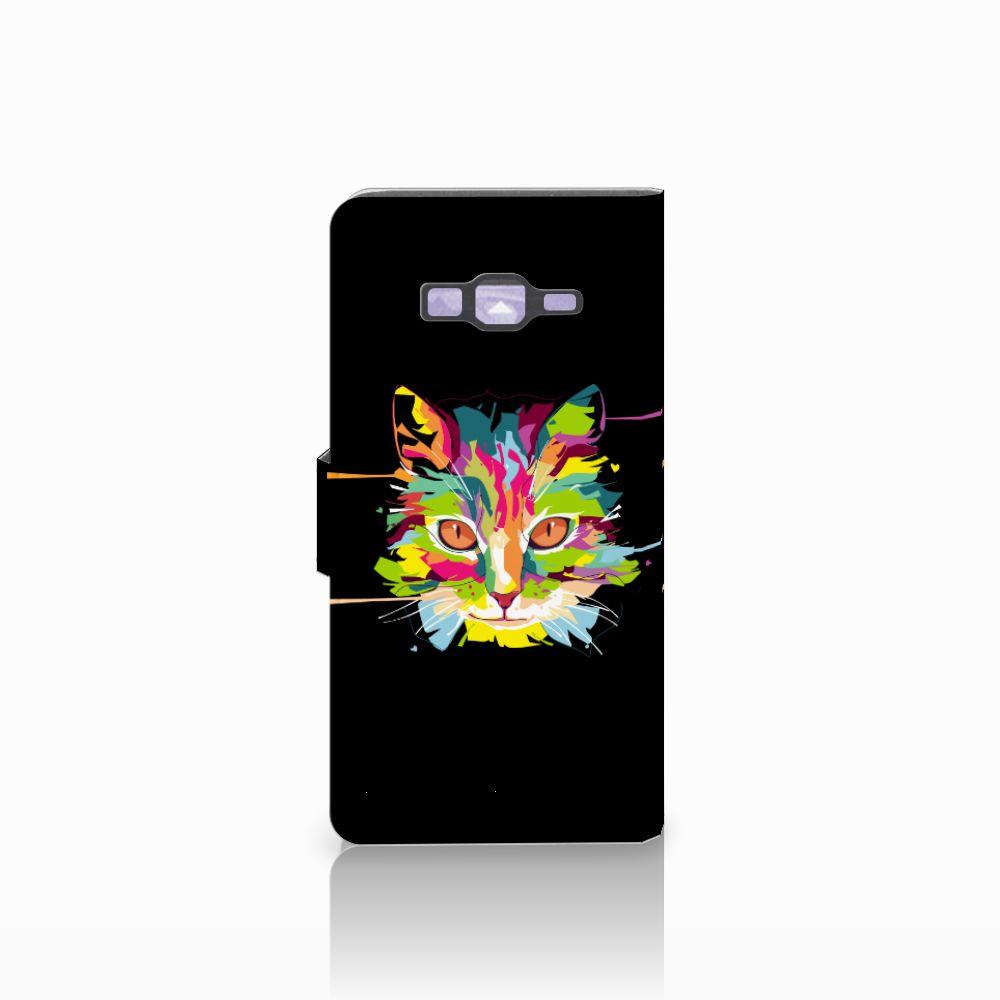 Samsung Galaxy Grand Prime   Grand Prime VE G531F Leuke Hoesje Cat Color
