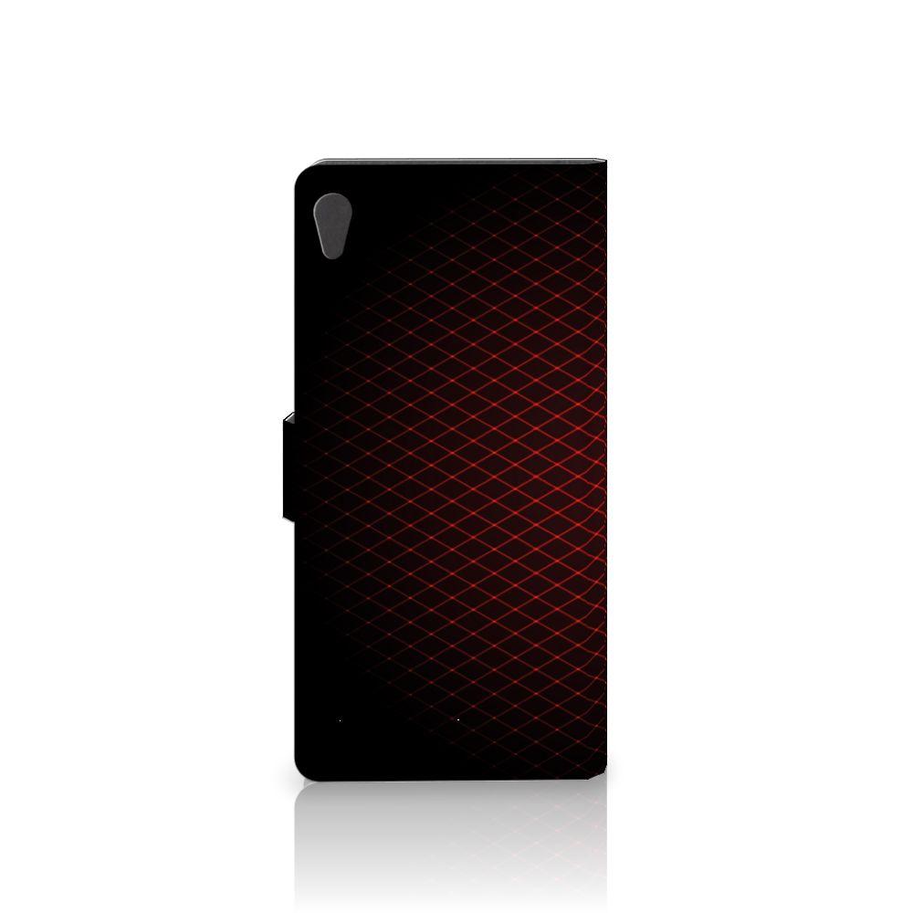 Sony Xperia XA Ultra Telefoon Hoesje Geruit Rood