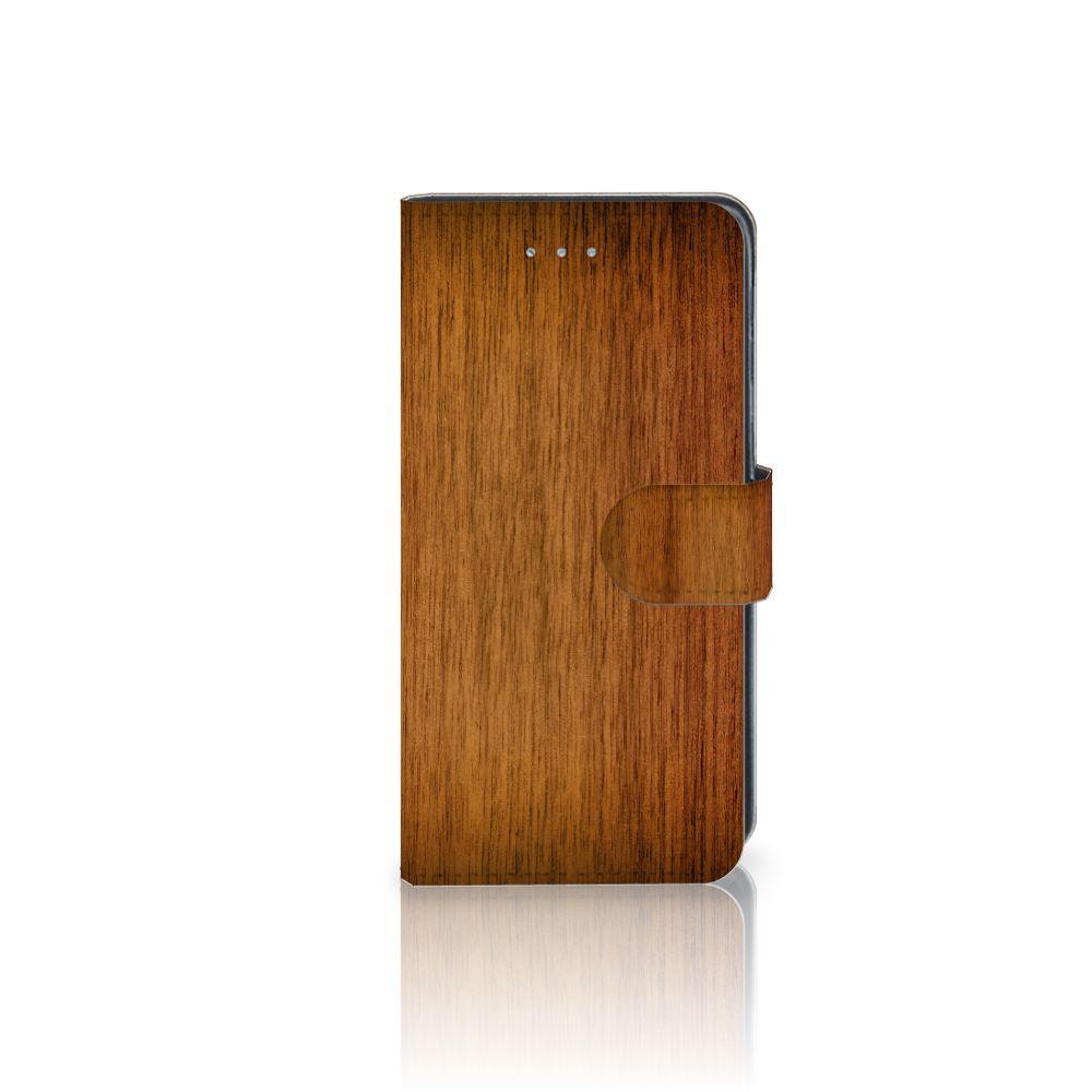 Samsung Galaxy J3 2016 Uniek Boekhoesje Donker Hout