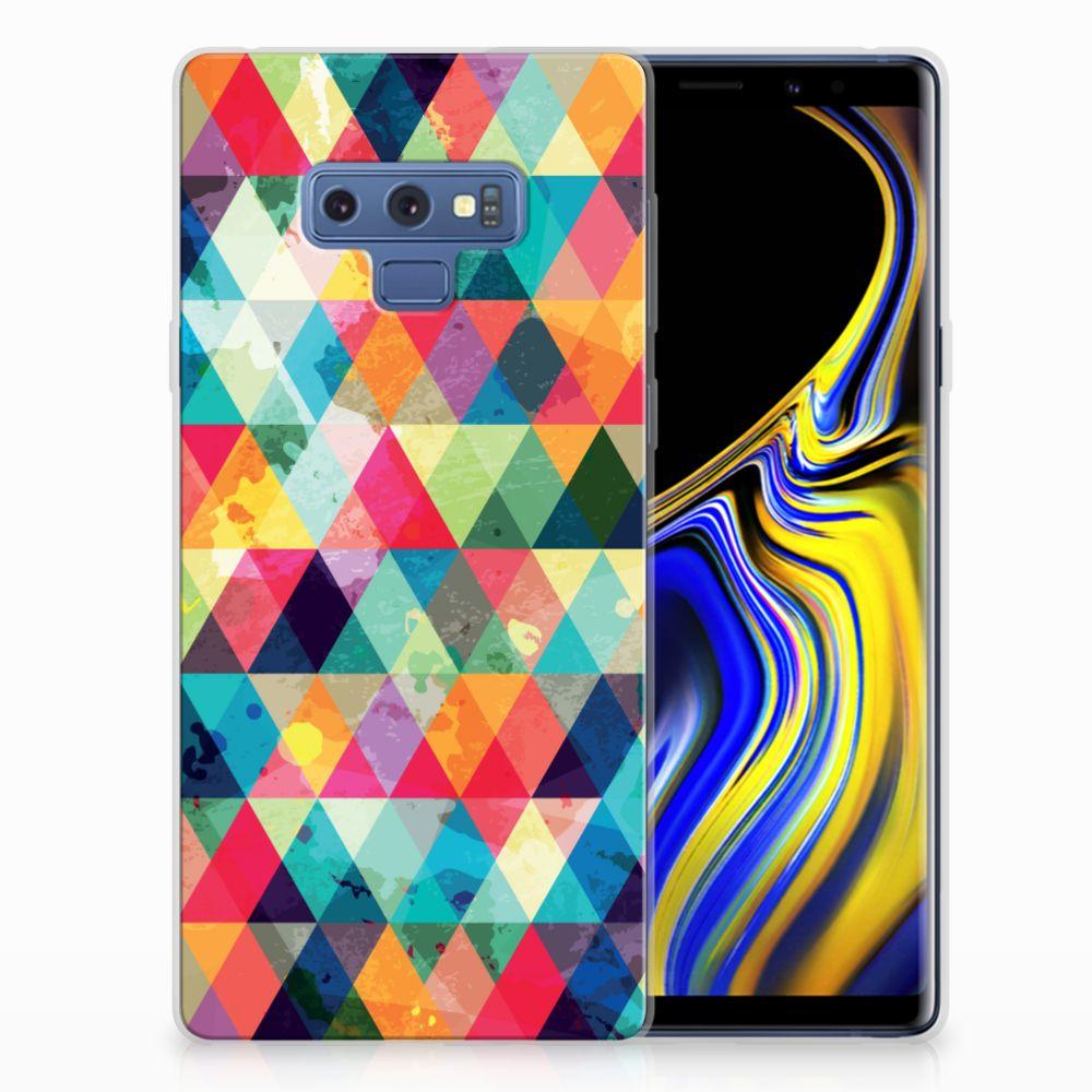 Samsung Galaxy Note 9 Uniek TPU Hoesje Geruit