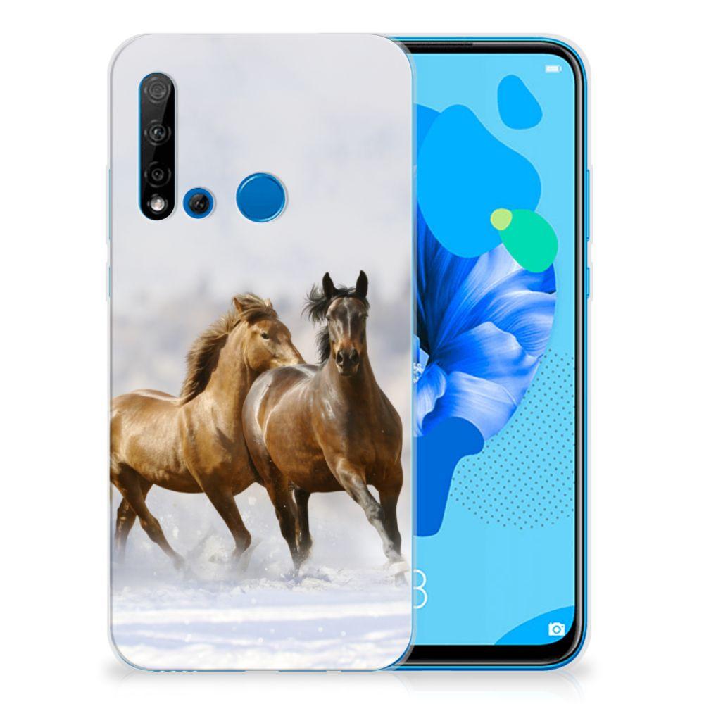 Huawei P20 Lite (2019) TPU Hoesje Paarden