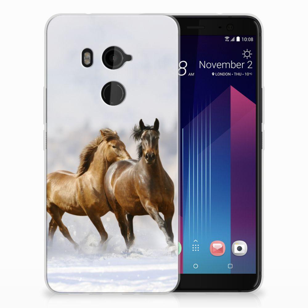 HTC U11 Plus Uniek TPU Hoesje Paarden