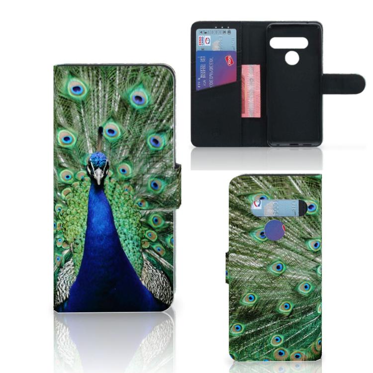 LG G8s Thinq Telefoonhoesje met Pasjes Pauw