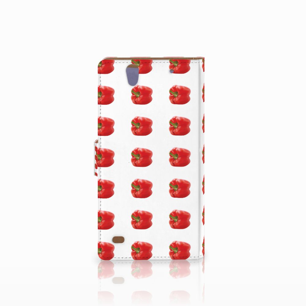Sony Xperia C4 Book Cover Paprika Red
