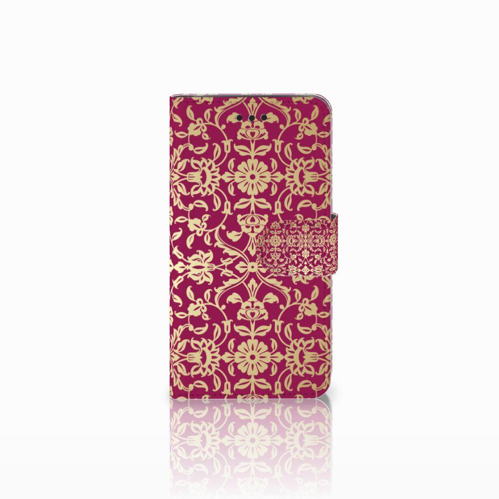 Samsung Galaxy J2 Pro 2018 Boekhoesje Design Barok Pink