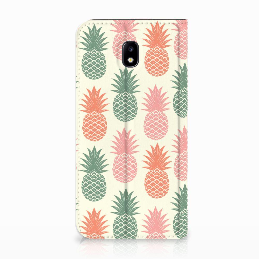 Samsung Galaxy J5 2017 Standcase Hoesje Design Ananas