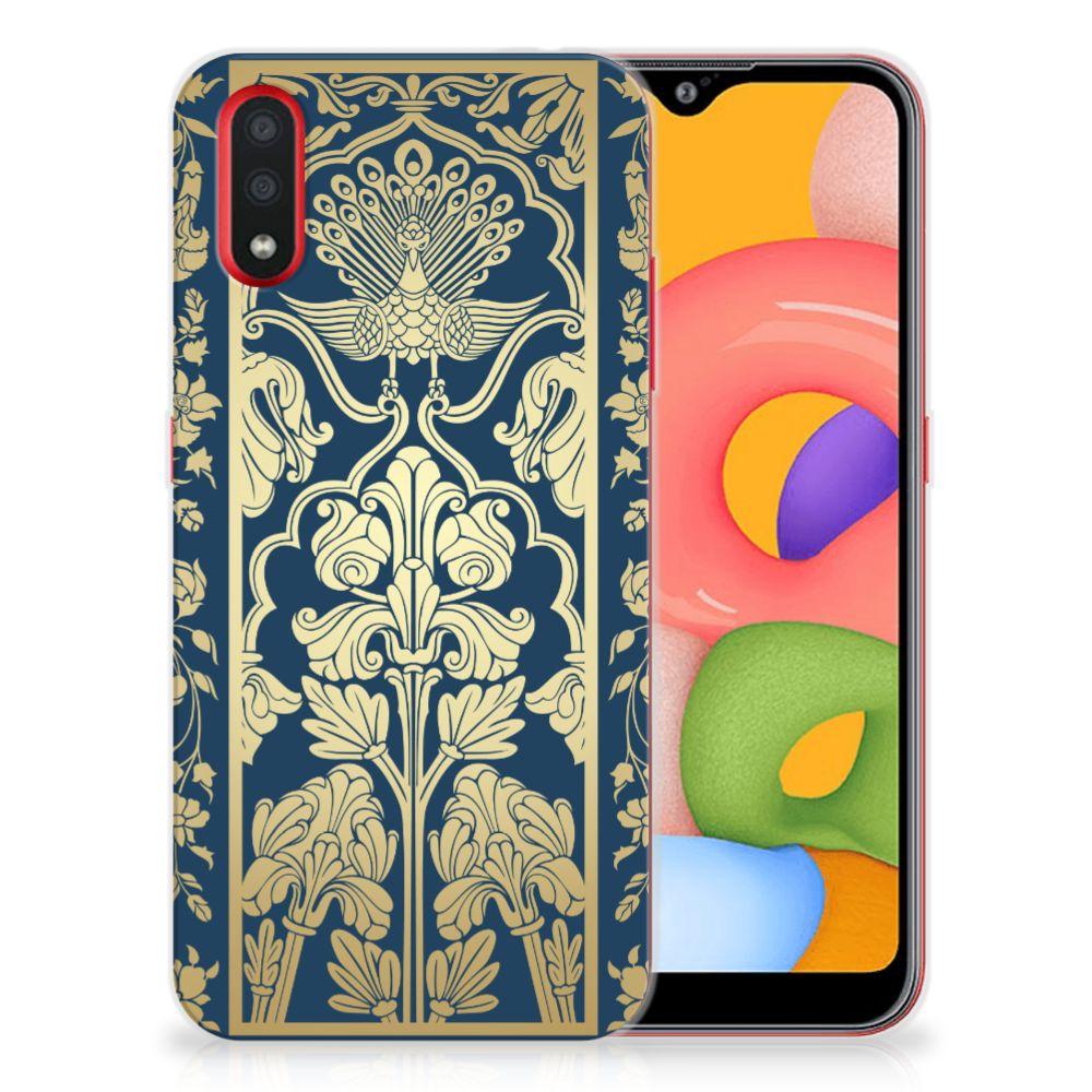 Samsung Galaxy A01 TPU Case Golden Flowers