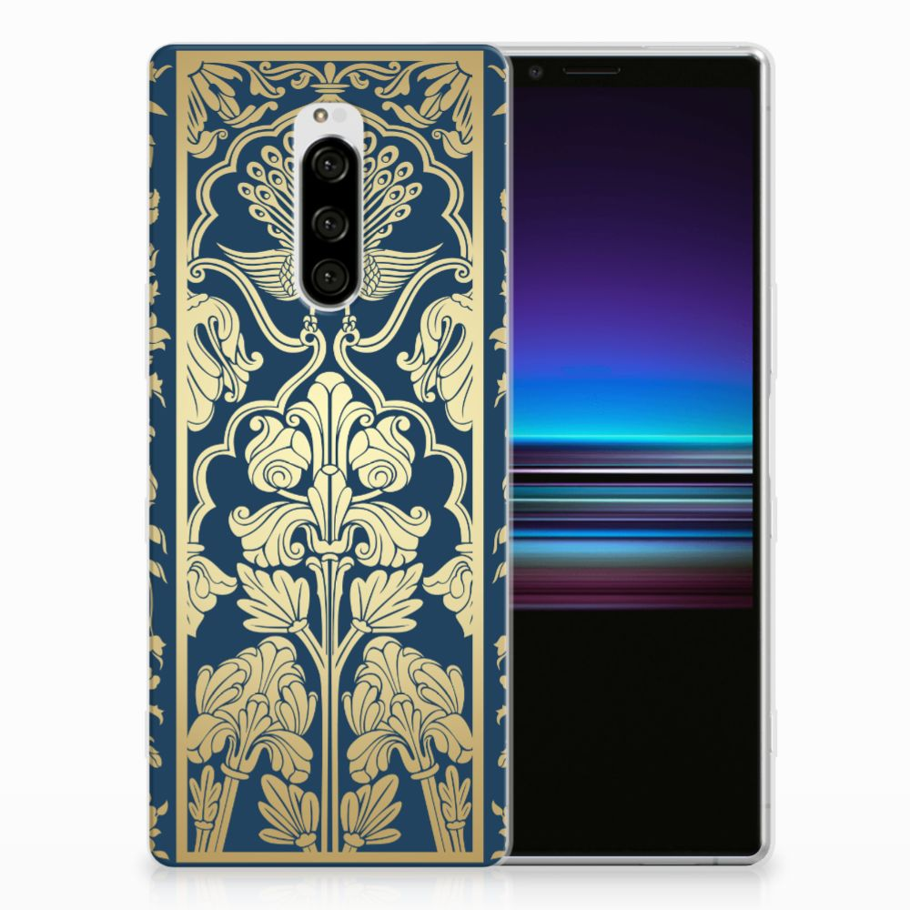 Sony Xperia 1 TPU Case Golden Flowers