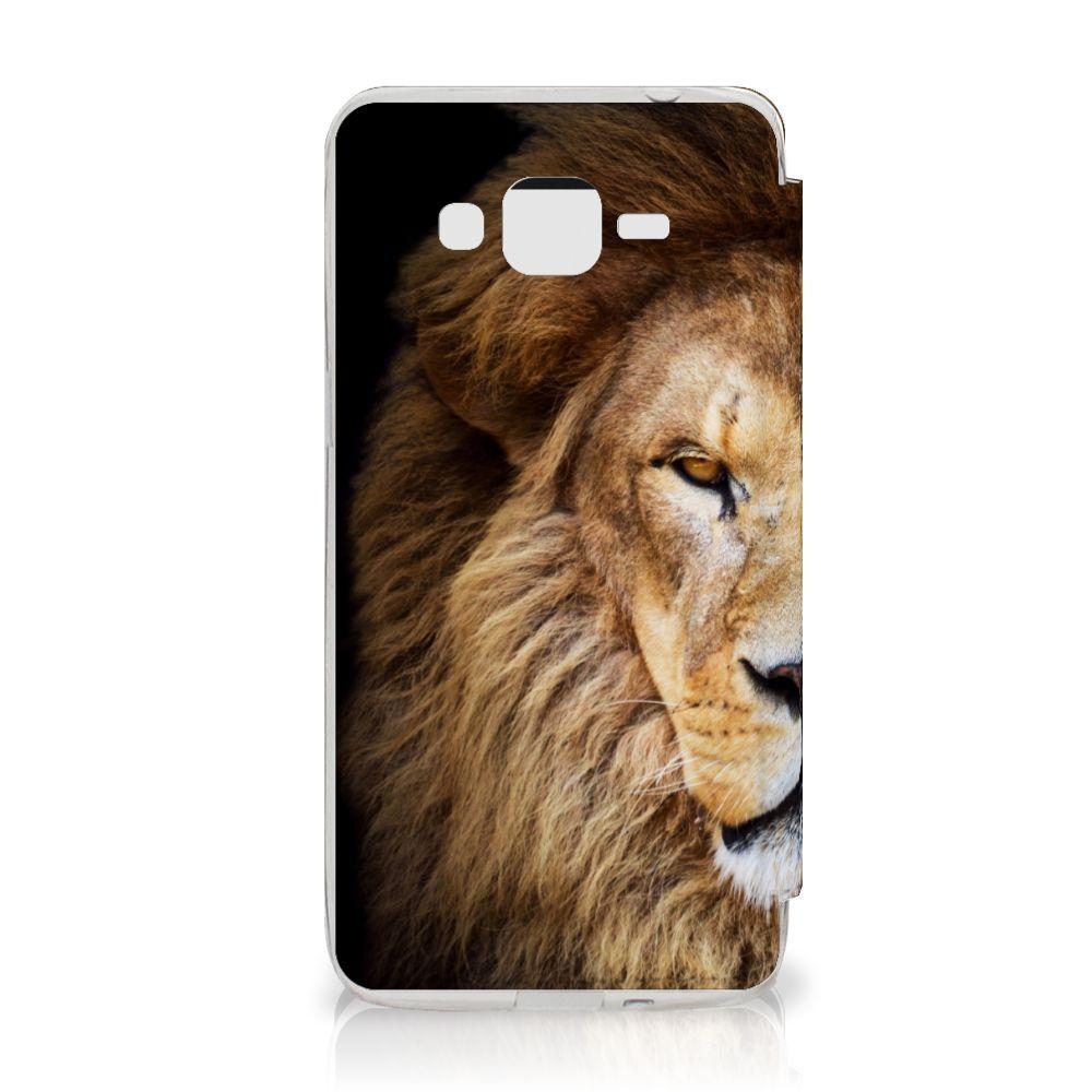 Samsung Galaxy Grand Prime Telefoonhoesje met Pasjes Leeuw