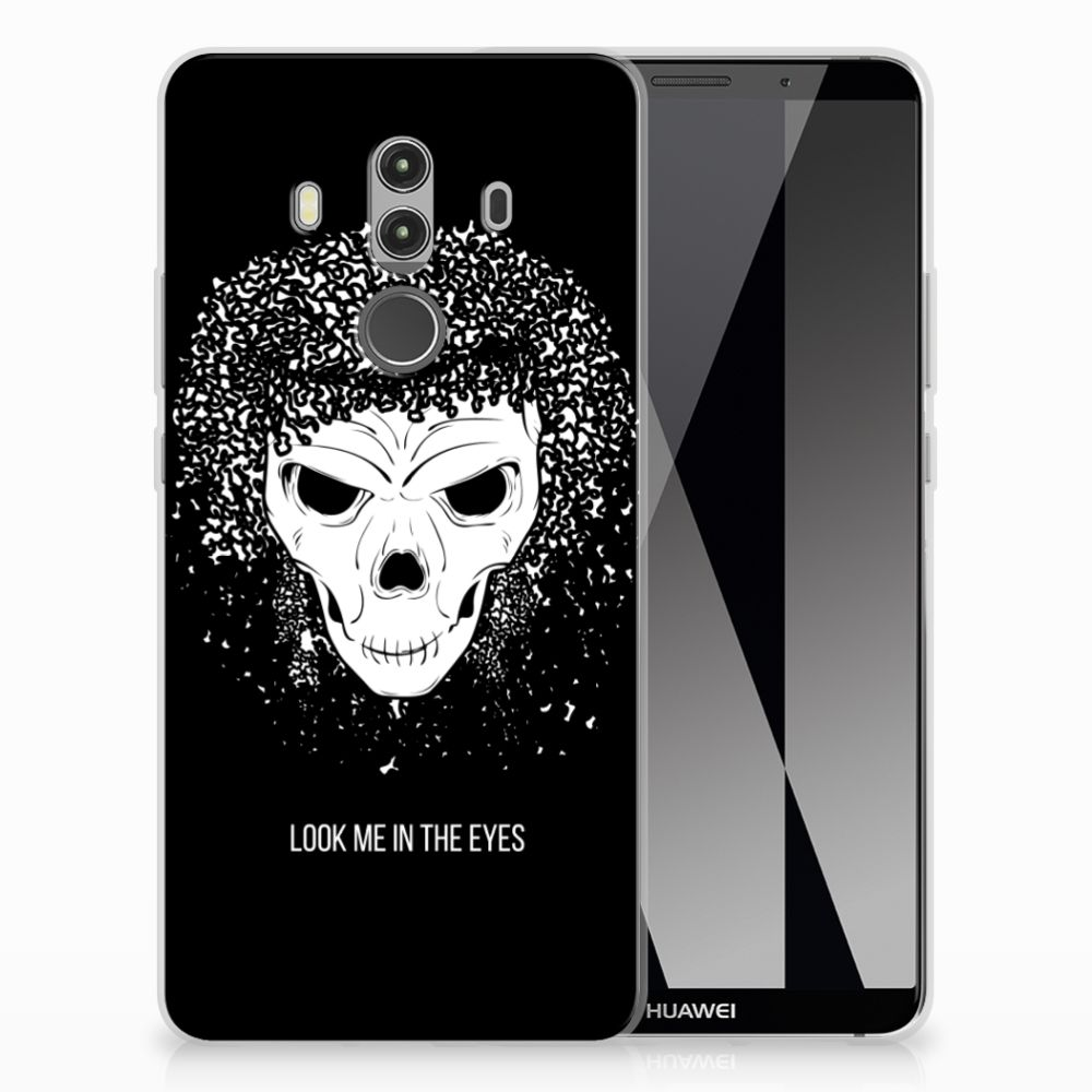 Silicone Back Case Huawei Mate 10 Pro Skull Hair