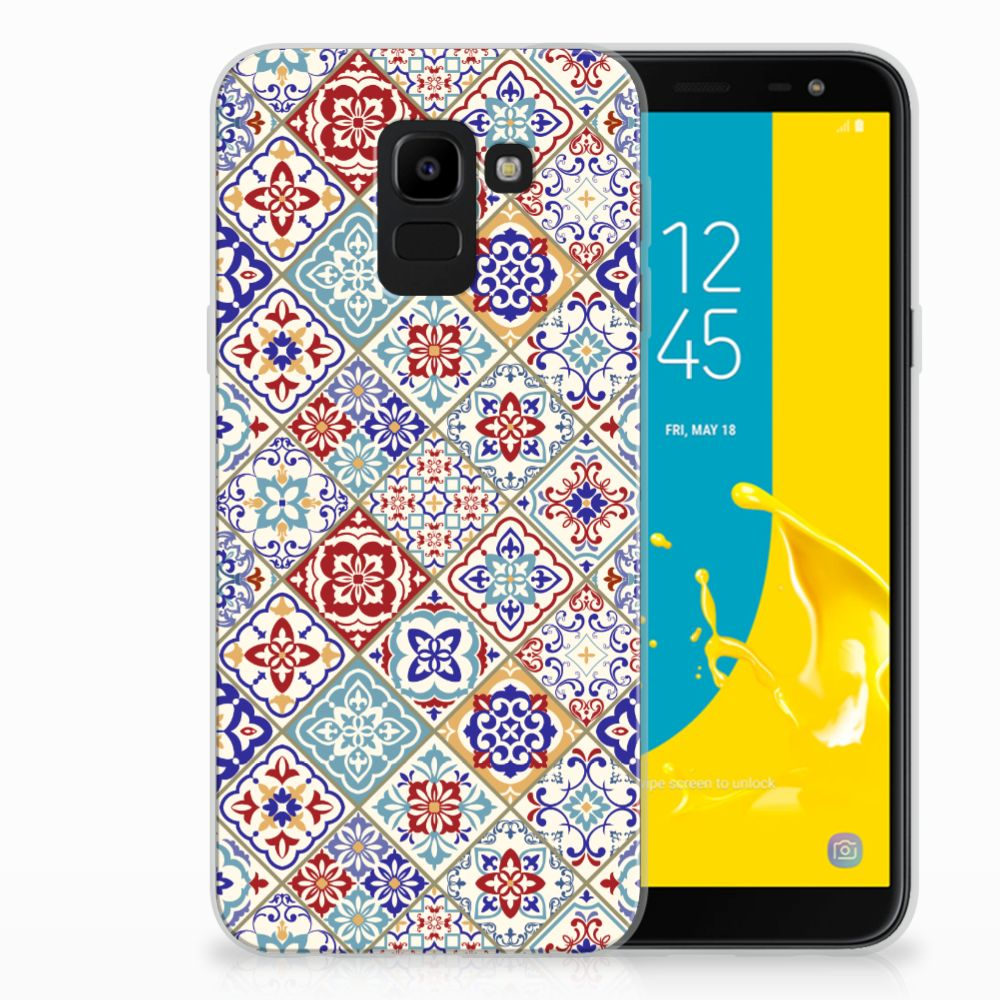 Samsung Galaxy J6 2018 Uniek TPU Hoesje Tiles Color