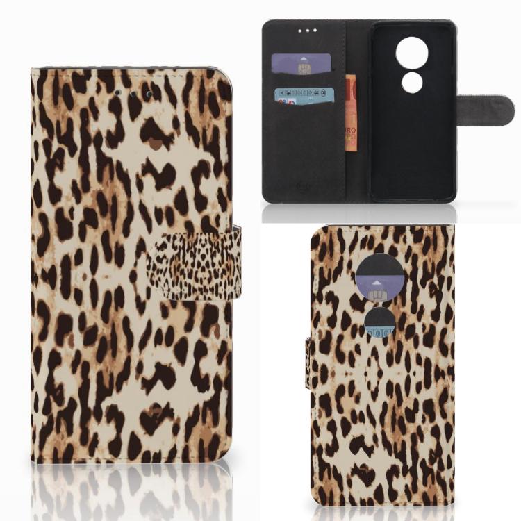 Motorola Moto E5 Play Telefoonhoesje met Pasjes Leopard