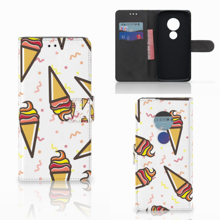 Motorola Moto E5 Book Cover Icecream
