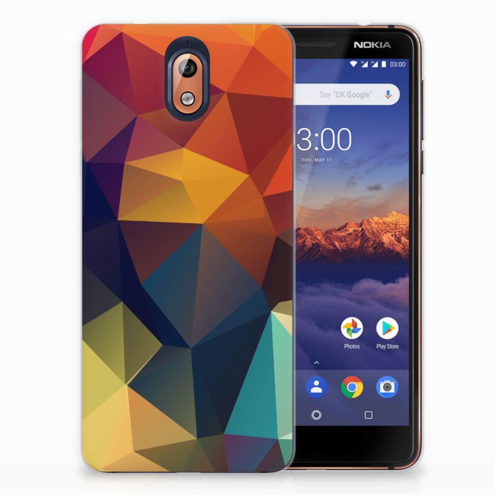 Nokia 3.1 (2018) TPU Hoesje Polygon Color