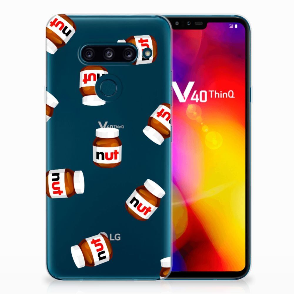 LG V40 Thinq Siliconen Case Nut Jar