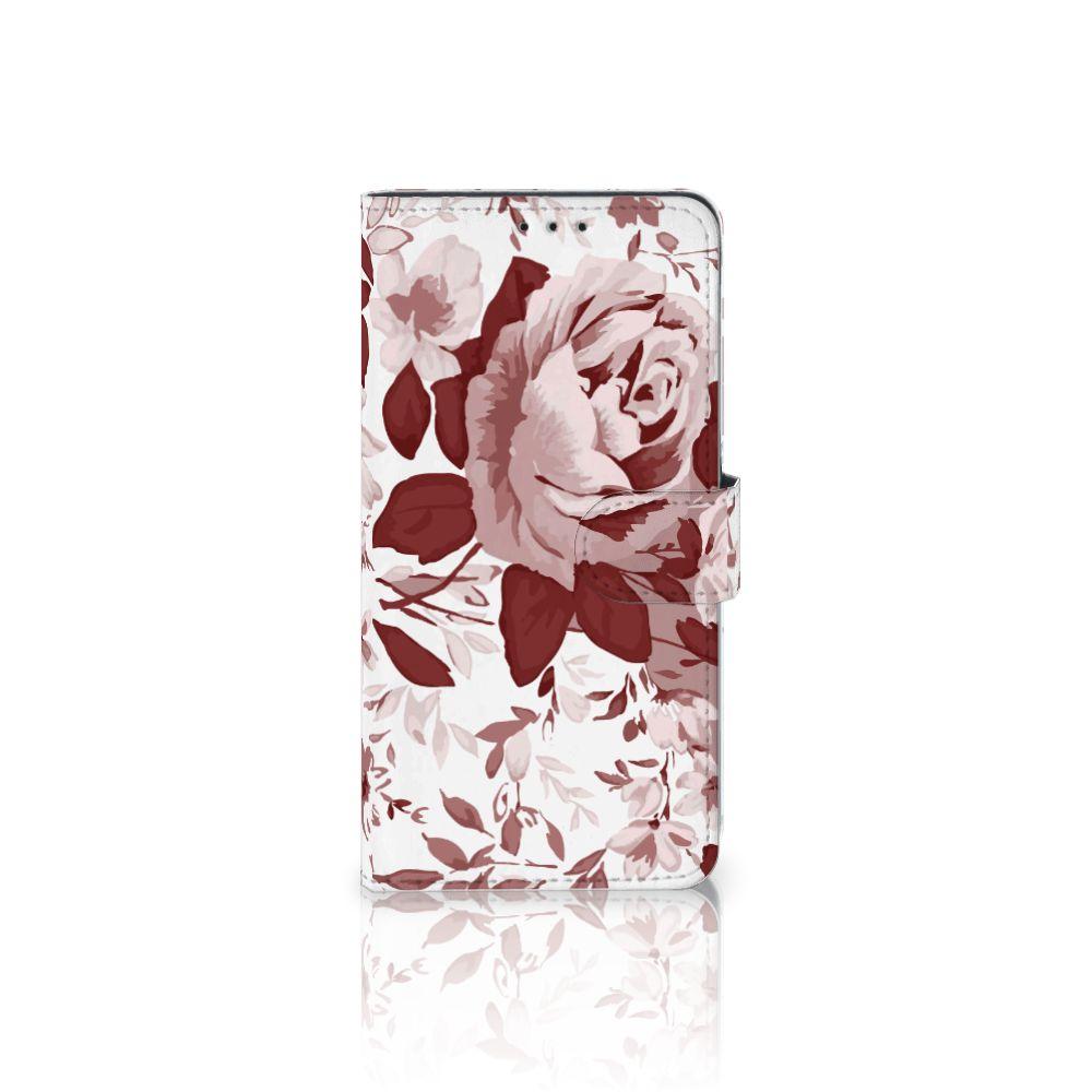 Samsung Galaxy A8 Plus (2018) Uniek Boekhoesje Watercolor Flowers