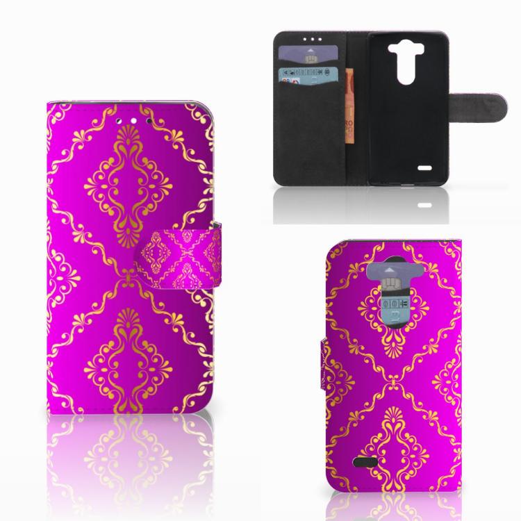 Wallet Case LG G3 S Barok Roze