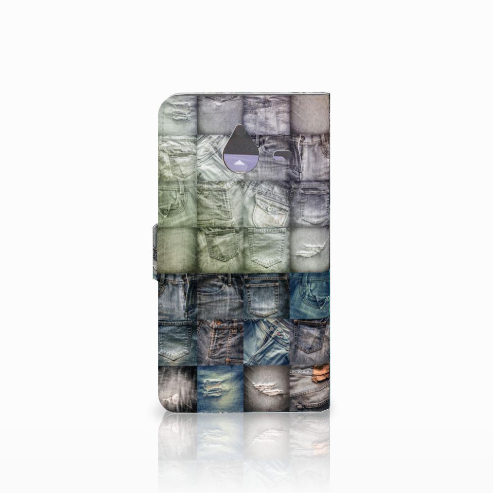 Wallet Case met Pasjes Microsoft Lumia 640 XL Spijkerbroeken