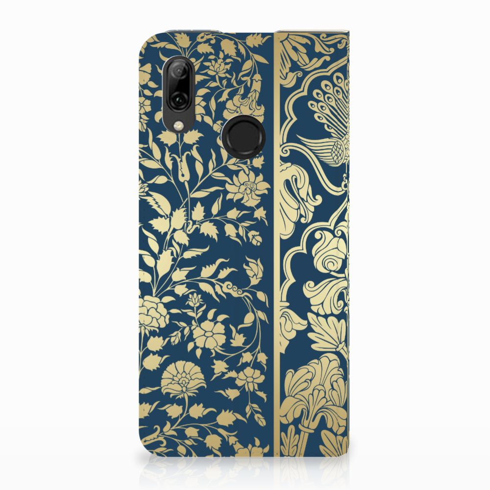 Huawei P Smart (2019) Standcase Hoesje Golden Flowers