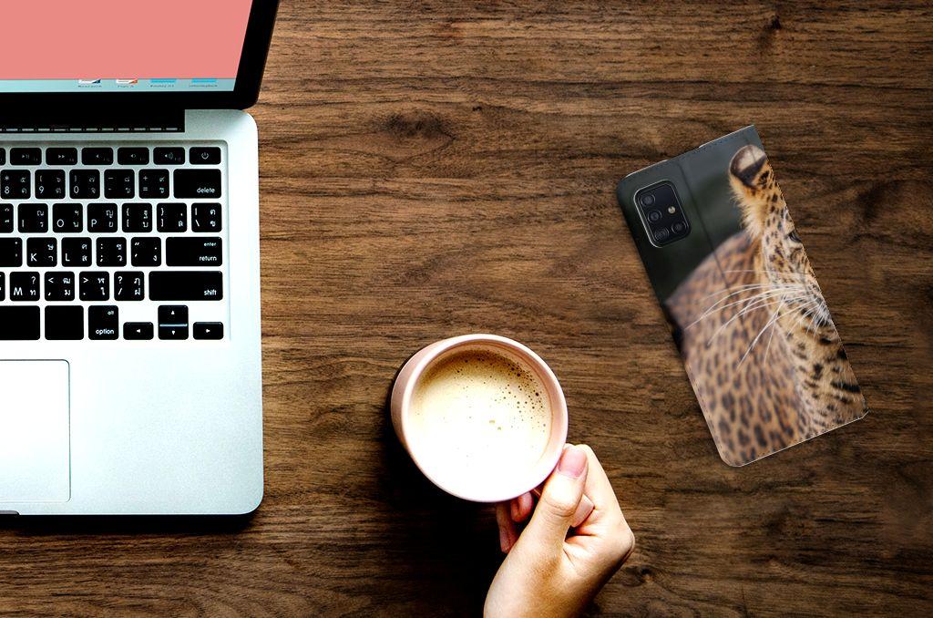 Samsung Galaxy A51 Hoesje maken Luipaard
