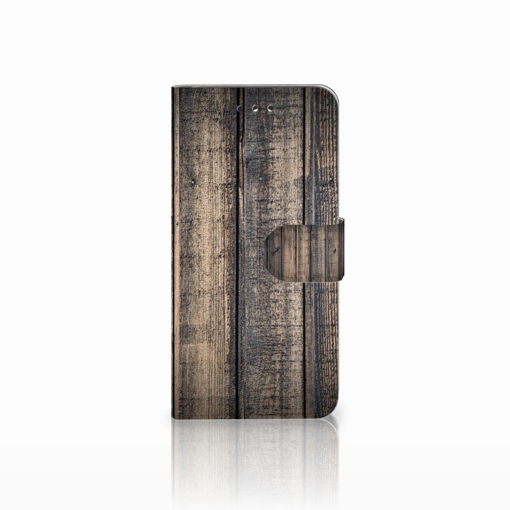 LG G7 Thinq Boekhoesje Design Steigerhout