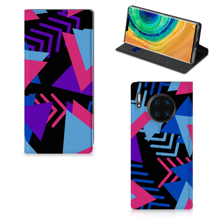 Huawei Mate 30 Pro Stand Case Funky Triangle