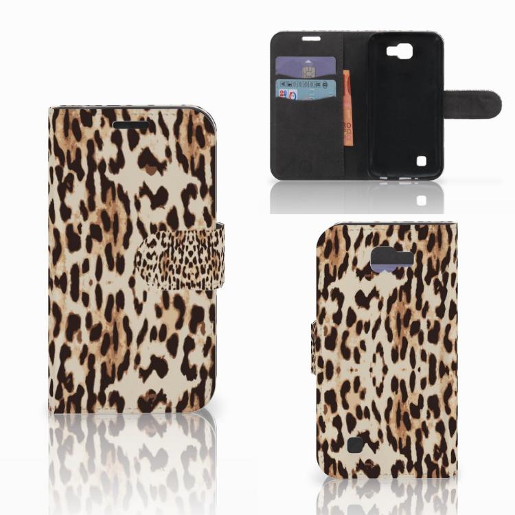 LG K4 Telefoonhoesje met Pasjes Leopard