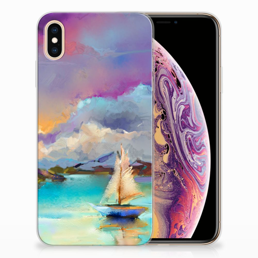 Apple iPhone Xs Max Uniek TPU Hoesje Boat