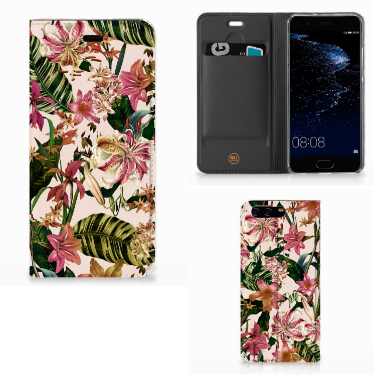 Huawei P10 Smart Cover Flowers