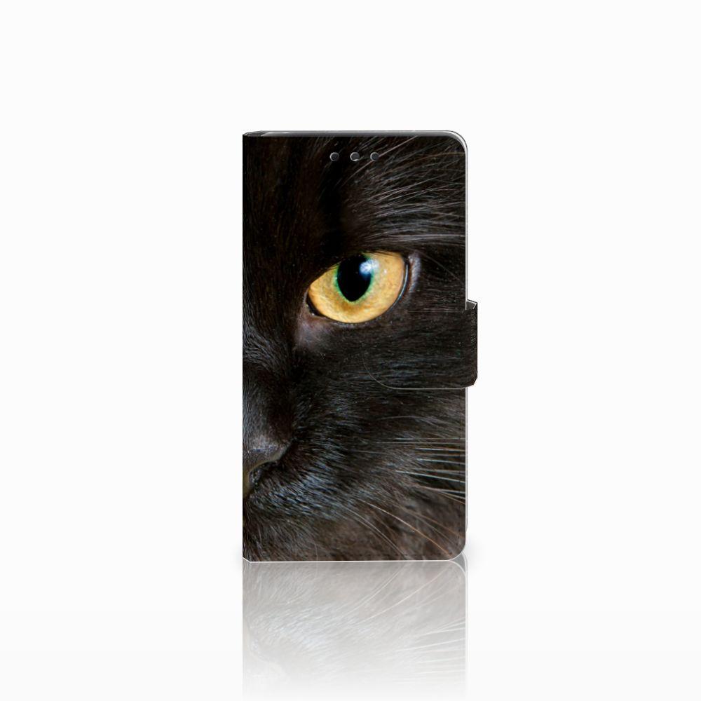 LG Bello 2 Telefoonhoesje met Pasjes Zwarte Kat