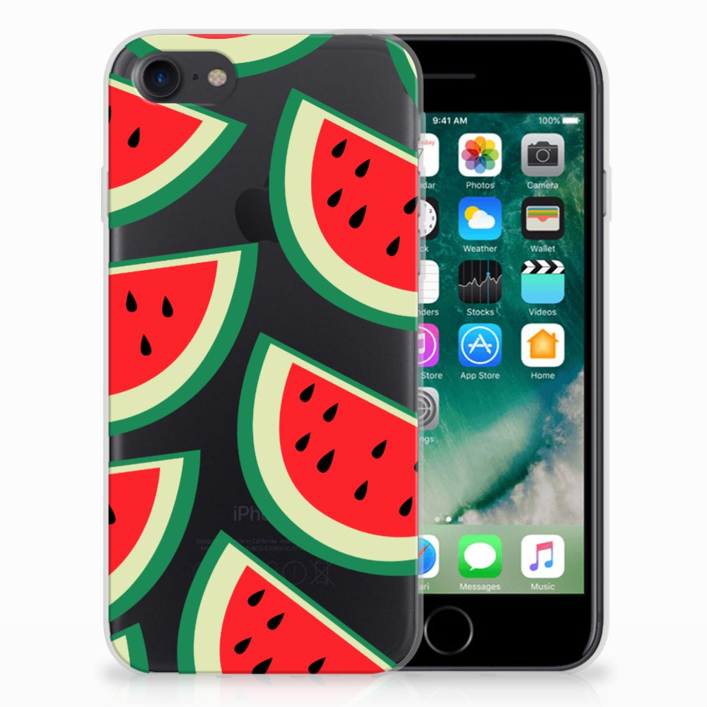 Apple iPhone 7 | 8 Siliconen Case Watermelons