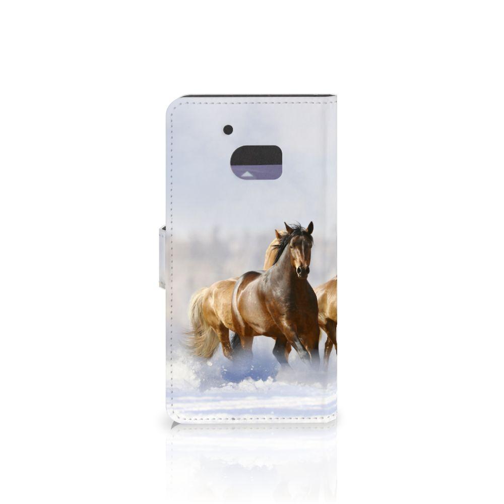 HTC 10 Telefoonhoesje met Pasjes Paarden