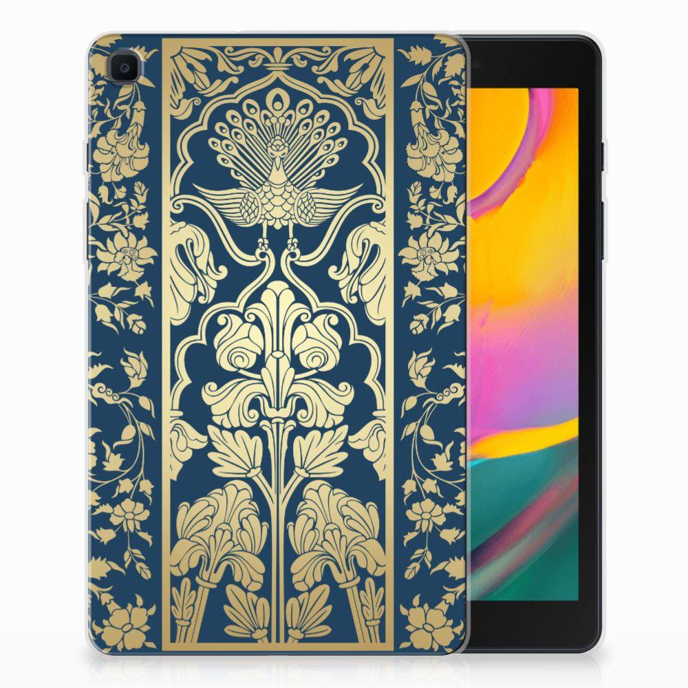 Samsung Galaxy Tab A 8.0 (2019) Siliconen Hoesje Golden Flowers