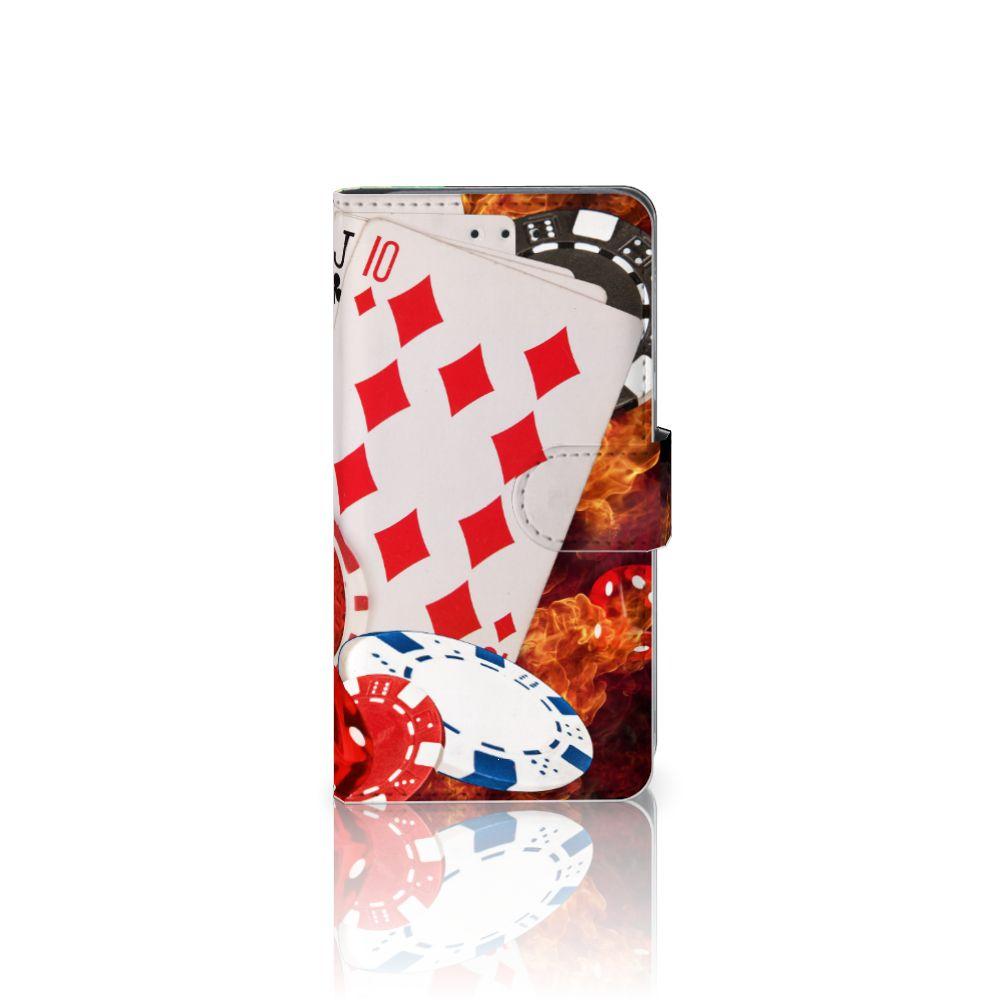 HTC U11 Uniek Boekhoesje Casino