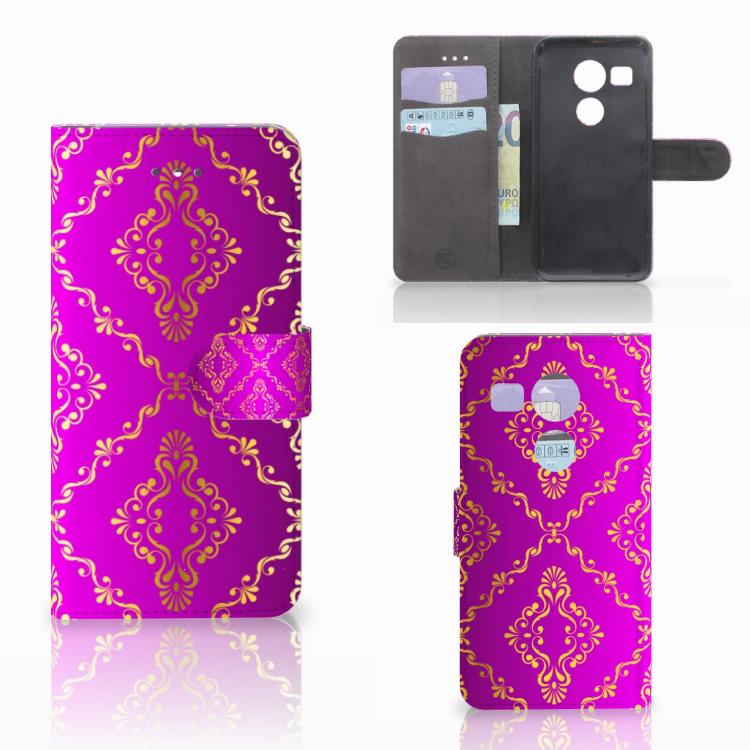 Wallet Case LG Nexus 5X Barok Roze