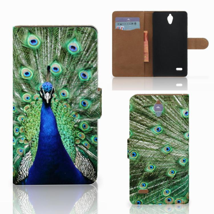 Huawei Ascend G700 Telefoonhoesje met Pasjes Pauw