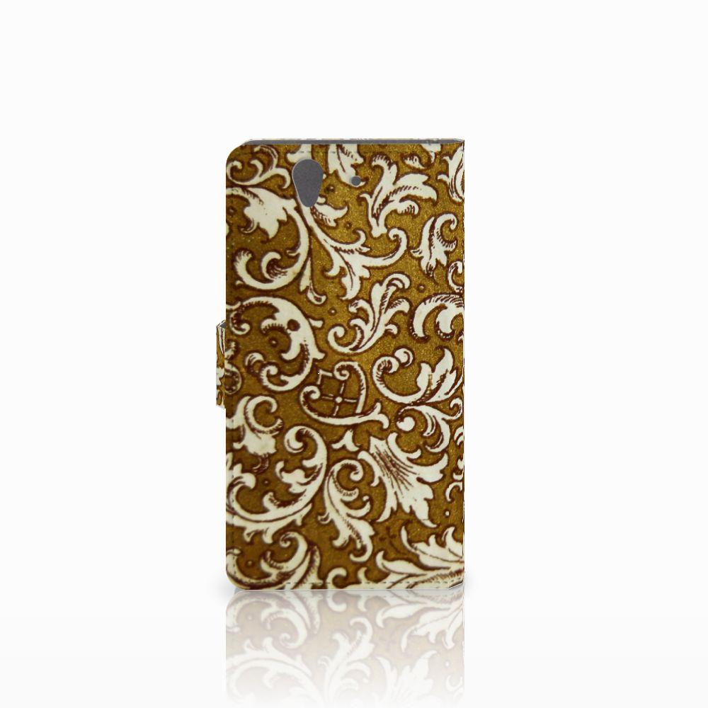 Wallet Case Sony Xperia Z Barok Goud