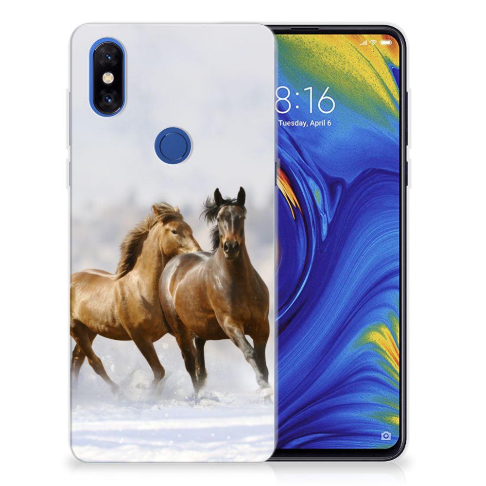 Xiaomi Mi Mix 3 TPU Hoesje Paarden