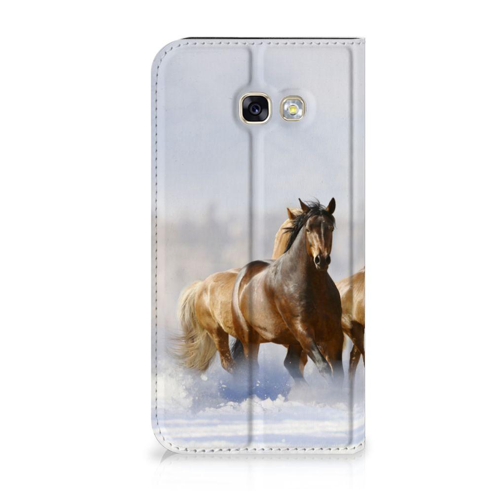 Samsung Galaxy A5 2017 Uniek Standcase Hoesje Paarden