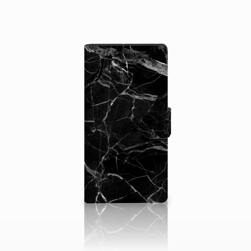 Sony Xperia C4 Uniek Boekhoesje Marmer Zwart