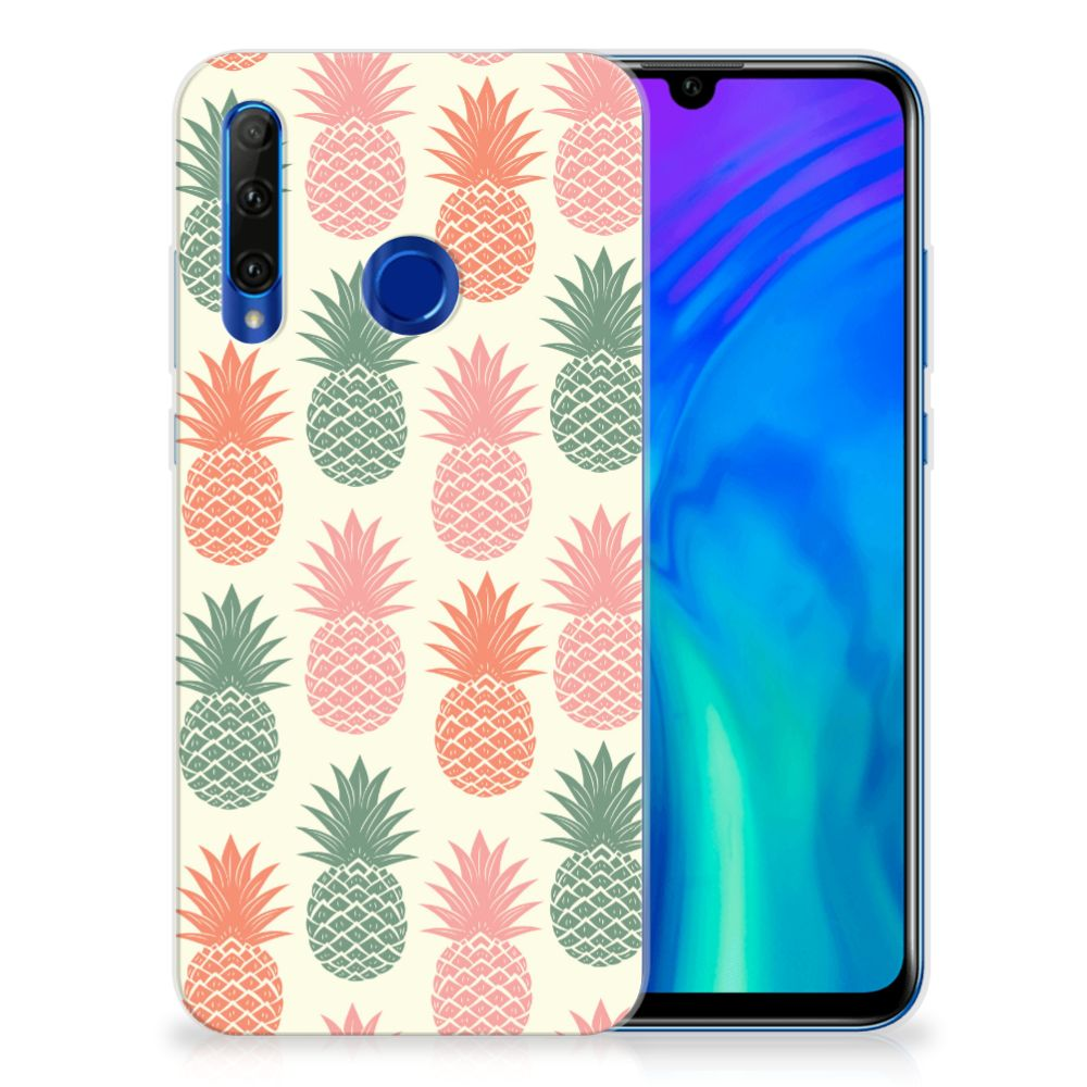 Honor 20 Lite Siliconen Case Ananas