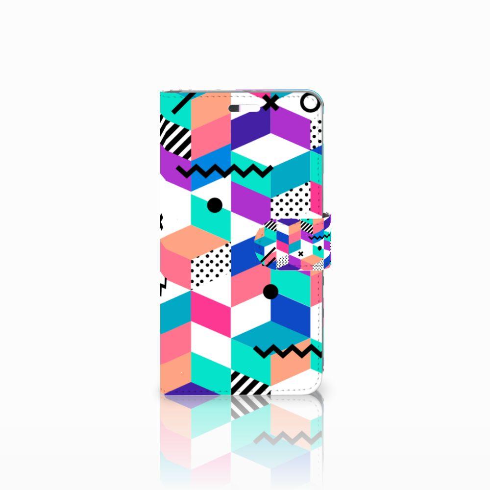 Huawei P9 Plus Boekhoesje Design Blocks Colorful
