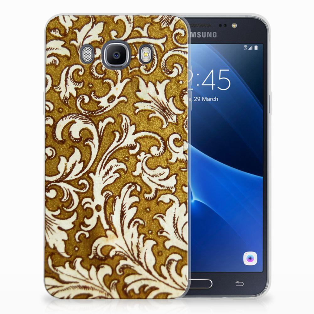 Siliconen Hoesje Samsung Galaxy J7 2016 Barok Goud
