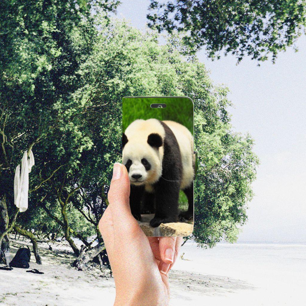 Huawei Ascend Y550 Telefoonhoesje met Pasjes Panda