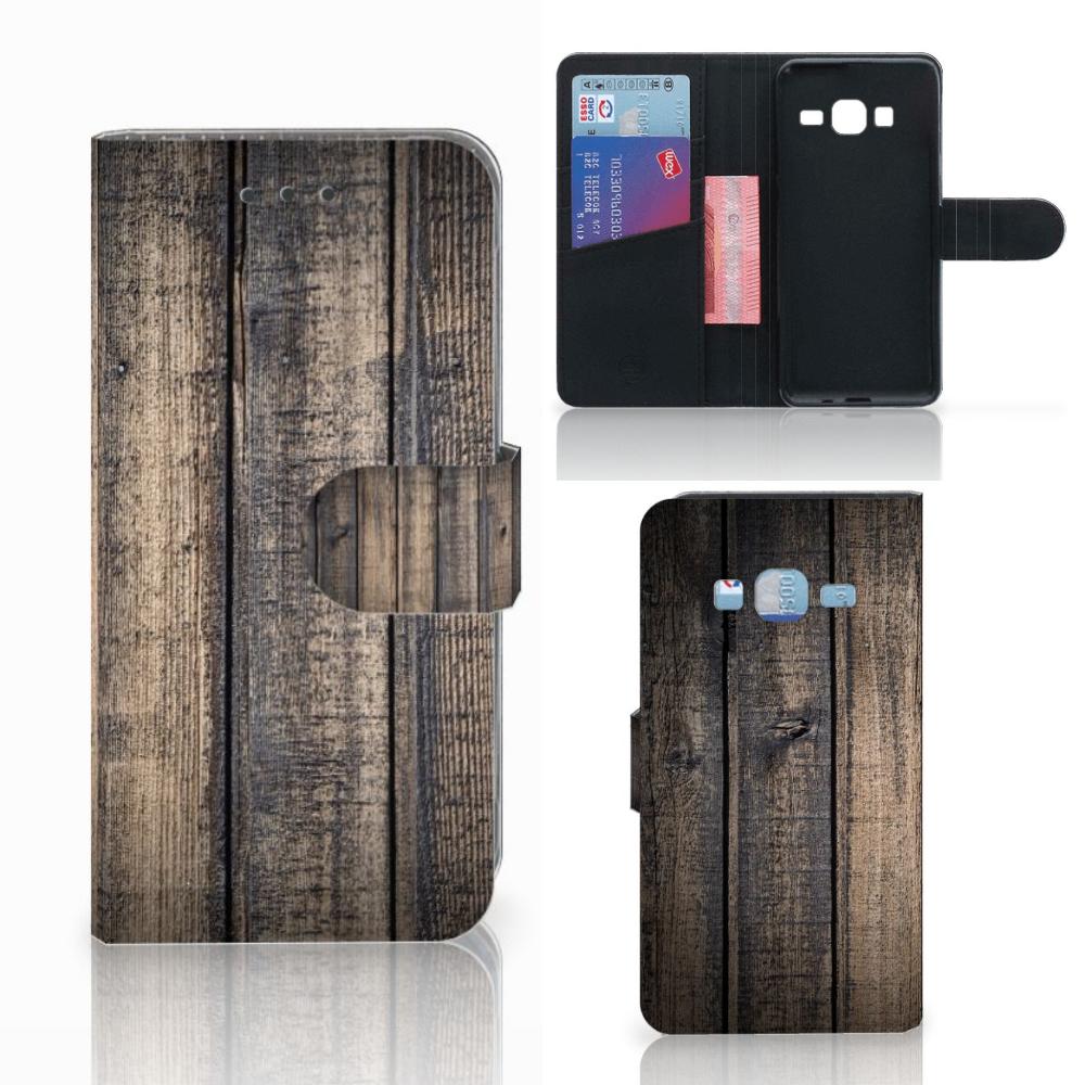 Samsung Galaxy J3 2016 Book Style Case Steigerhout