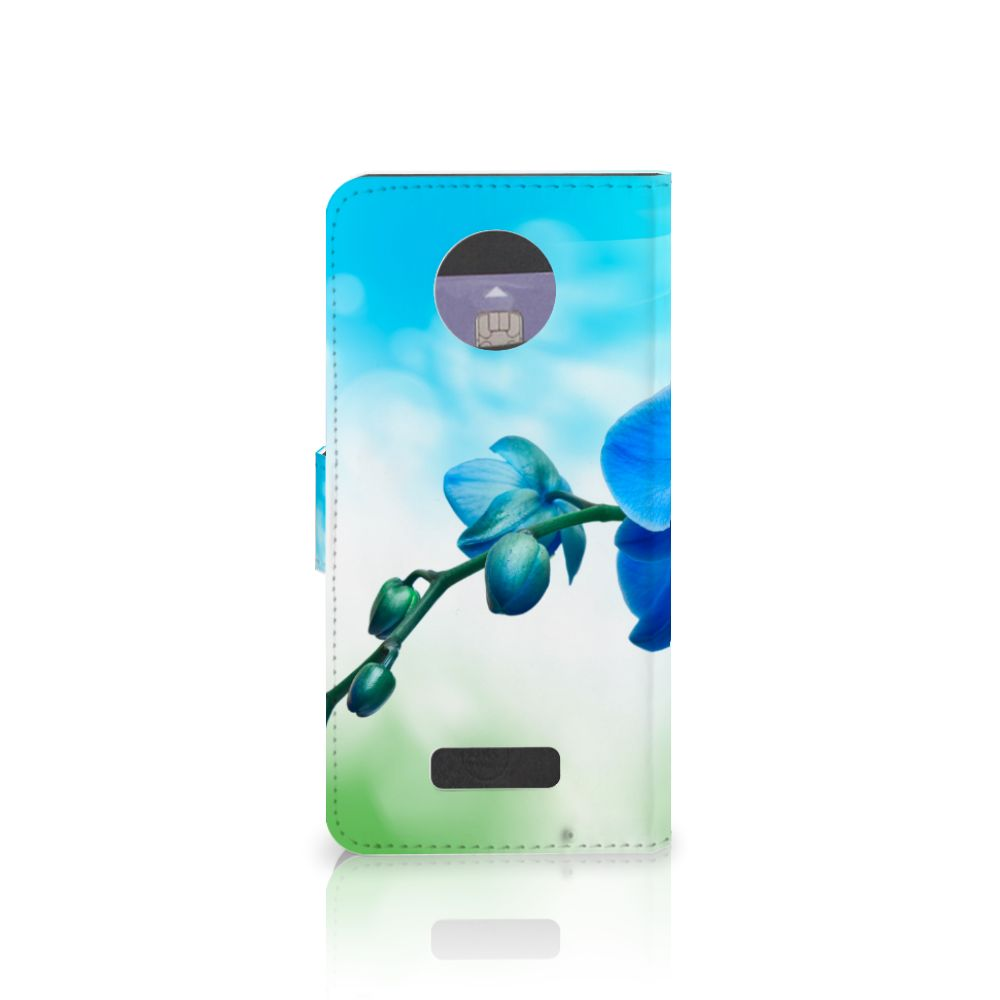 Motorola Moto Z Hoesje Orchidee Blauw