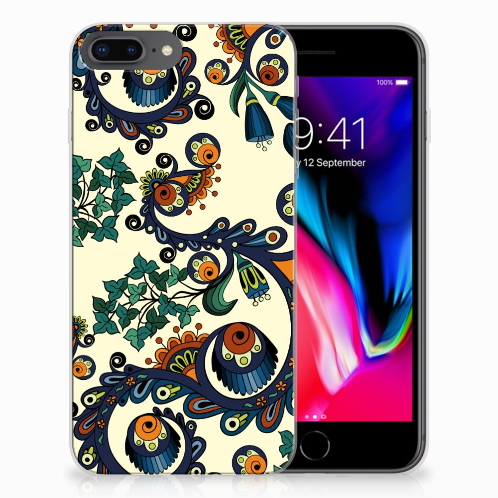 Siliconen Hoesje Apple iPhone 7 Plus | 8 Plus Barok Flower