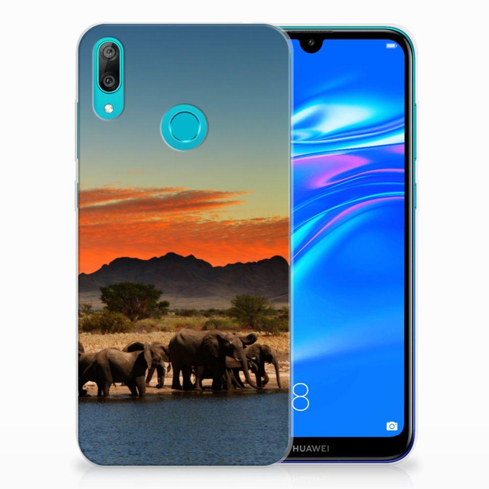 Huawei Y7 2019 TPU Hoesje Olifanten
